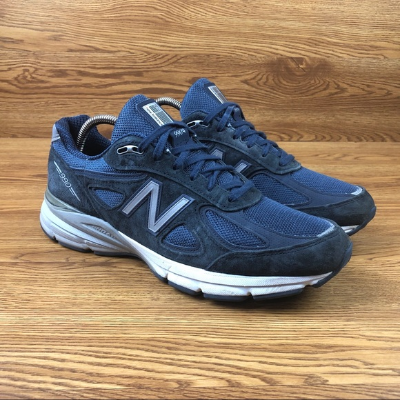 quality design 4561a 630f1 New Balance 990v4 Navy Blue Suede Athletic Shoes